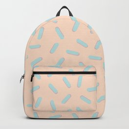 Memphis Bacteria Pattern Pastel Colors Peach Baby Blue Backpack