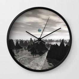 Mysterious Blue Orbs Wall Clock