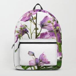 Purple delphinium flowers Backpack