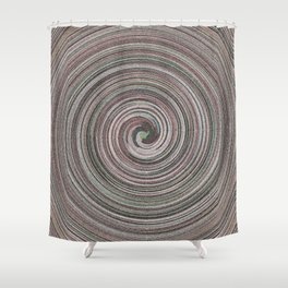 Gray facets wave Shower Curtain