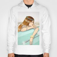 car Hoodies featuring Car by Lotty