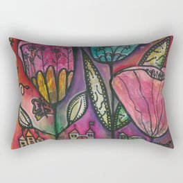 They live under flowers Rectangular Pillow