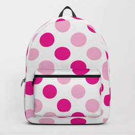 Pink polka dots pattern Backpack