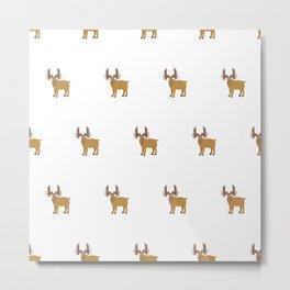 Moose Pattern Metal Print