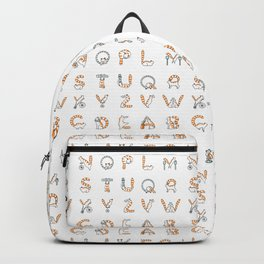 Circus cat alphabet Backpack