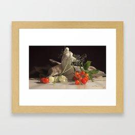 Flowery Still Life Framed Art Print