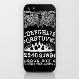 Ouija Board Black iPhone Skin