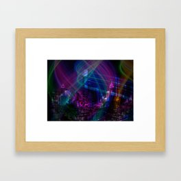 Neon City Framed Art Print