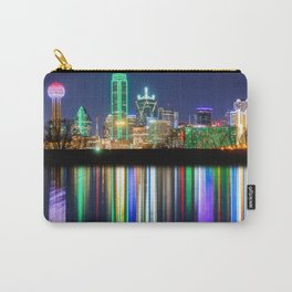 A very colorful Dallas Skyline with an impressive reflection Carry-All Pouch