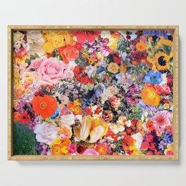 Garden Variety collage art Serving Tray