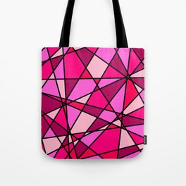 Shattered Pink Tote Bag