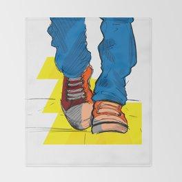 Follow the yellow brick road Throw Blanket