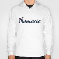 namaste Hoodies featuring Namaste by Stay Inspired