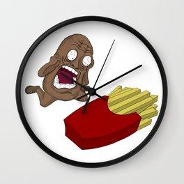 Tragic Potato Wall Clock