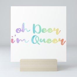 Deer Queen Gay Lesbian Homo CSD Gift Mini Art Print