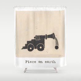 Piece on earth Shower Curtain