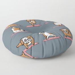 English Bulldog Yoga Floor Pillow