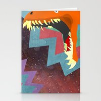 dinosaurs Stationery Cards featuring DINOSAURS by Cody Weber