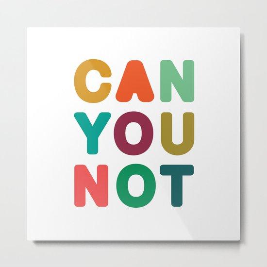 Can You Not Metal Print