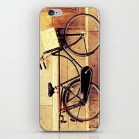 bicycle iPhone & iPod Skins featuring Bicycle by Indigo Rayz