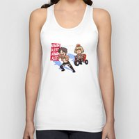 snk Tank Tops featuring Woo woo! by marisue