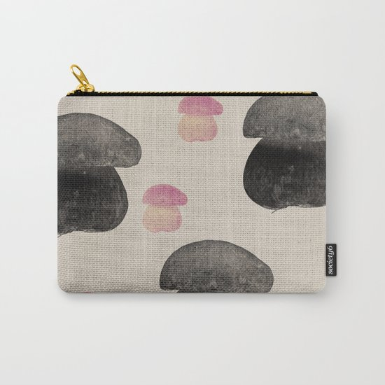 Black mushroom Carry-All Pouch