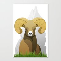 ram Canvas Prints featuring Ram by Porto881