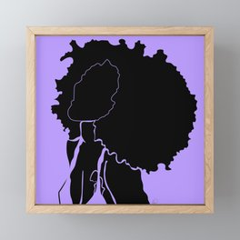 purple Framed Mini Art Print