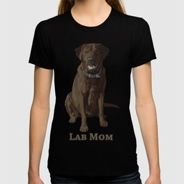 Dog Mom Chocolate Brown Labrador Retriever T-shirt