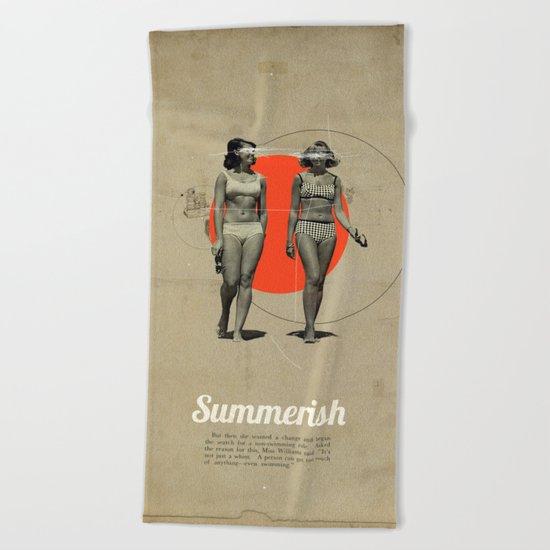 Summerish Beach Towel