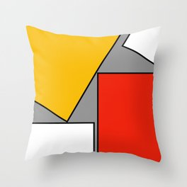 Leaning On You Abstract Throw Pillow