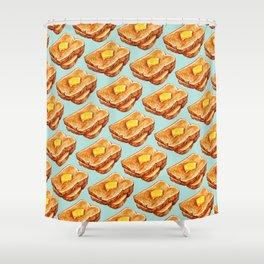 Toast Pattern Shower Curtain