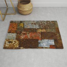 Metallic Textures Mosaic Collage by Annalisa Ramondino Rug