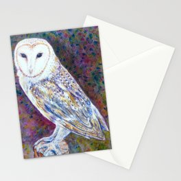 Watercolor barn owl Stationery Cards