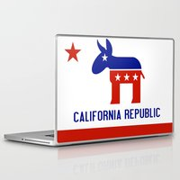 political Laptop & iPad Skins featuring Political California Republic Democrat by NorCal