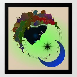 sky goddess Art Print