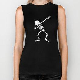 Dabbing skeleton (Dab) Biker Tank