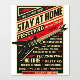 Distancing Quarantine Social Stay Home Festival 2020 Canvas Print