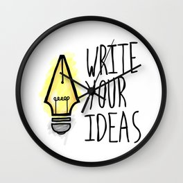 Write Your Ideas Wall Clock