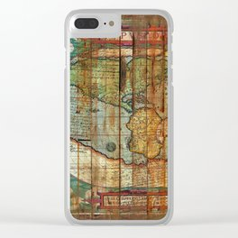 Antique World Clear iPhone Case