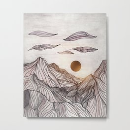Lines in the mountains Metal Print