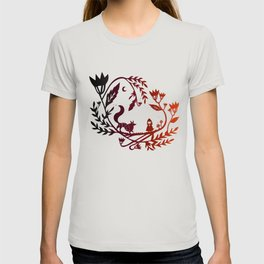 Red and wolf T-shirt