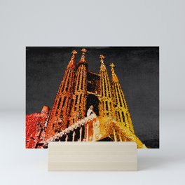 Sagrada Familia - unfinished Mini Art Print