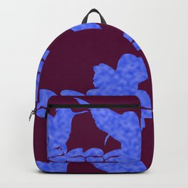 Purple Hummingbirds on Ultraviolet Line Backpack