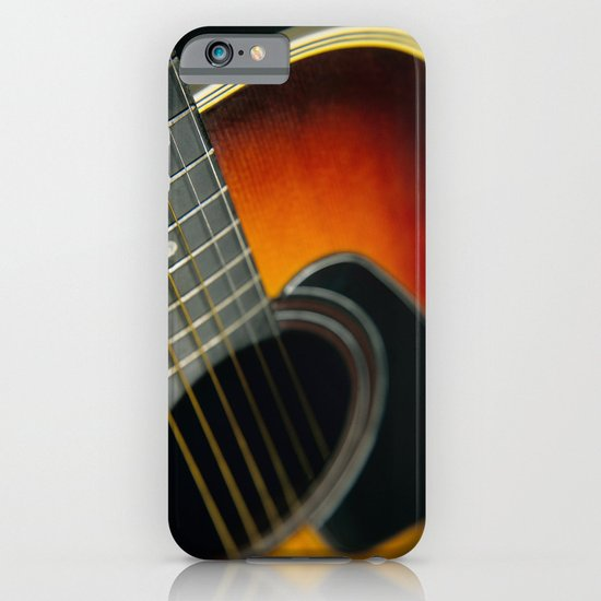 Guitar - Acoustic close up iPhone & iPod Case