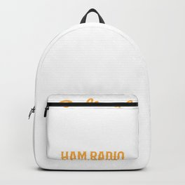 Retired Ham Radio Operator Transmitter Moonlighting Backpack