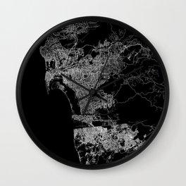 san diego map Wall Clock