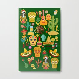 Fiesta Time! Mexican Icons Metal Print