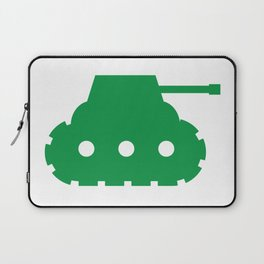 Green Mini-Tank Laptop Sleeve