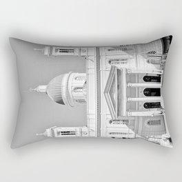 Church in Piraeus BW Rectangular Pillow